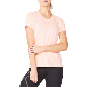 2XU Aero SL Shirt Women, pop coral/white reflective
